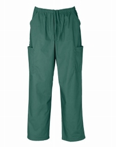 Hunter Green Unisex Cargo Scrub Pants